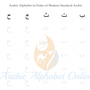 Arabic Alphabet tracing Worksheets
