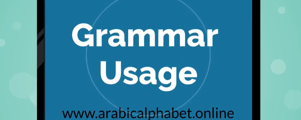 Arabic Grammar Usage